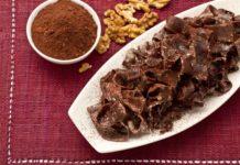 Tagliatelle al cacao con salsa di ricotta e noci