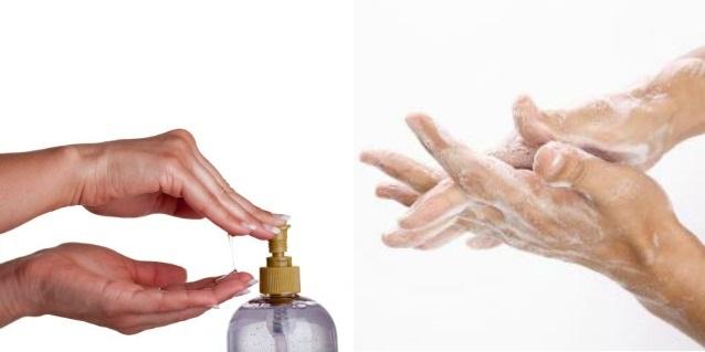 lavare le mani in modo corretto