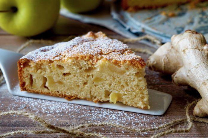 torta di mele allo zenzero
