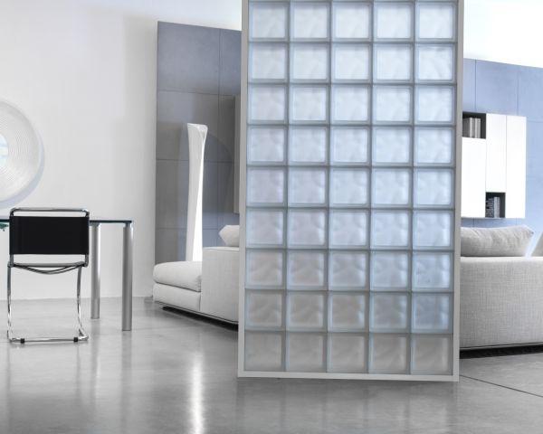 Come costruire una parete con i mattoni di vetro come - Costruire una parete divisoria ...