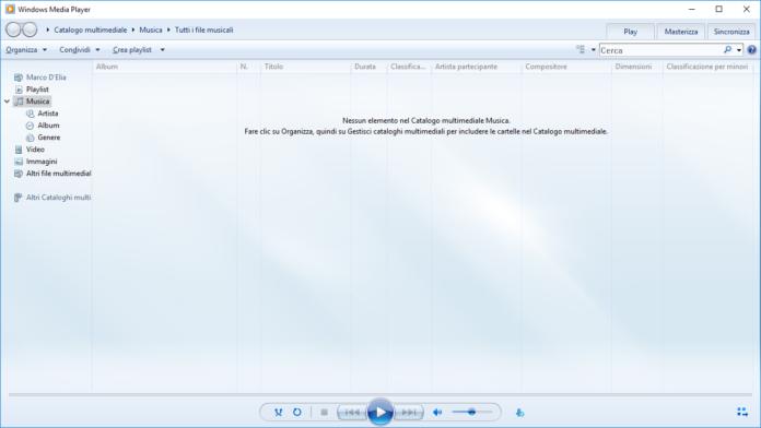 Come creare una playlist con Windows Media Player