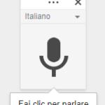Come dettare al PC digitazione vocale fai click per parlare