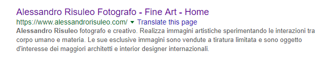 Esempio di meta description