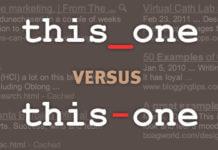 Trattino basso o Trattino Underscore vs Dash – o _ in URL