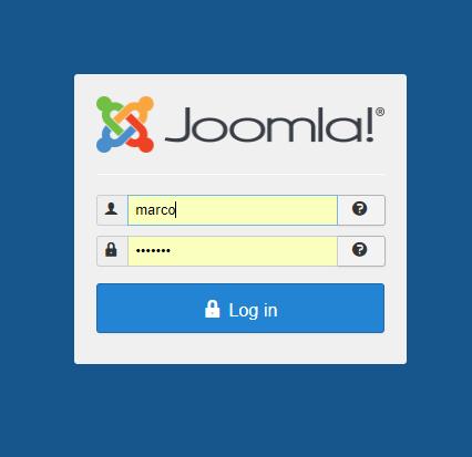 Come cambiare la lingua in Joomla - login