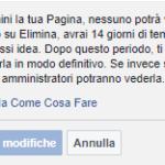 Come cancellare pagina Facebook – Rimozione della pagina