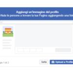 Come creare una pagina Facebook aggiungi immagine