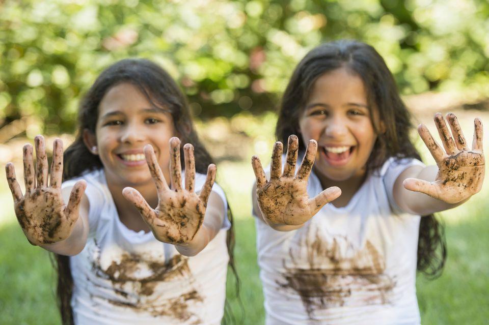 Eliminare le macchie di fango