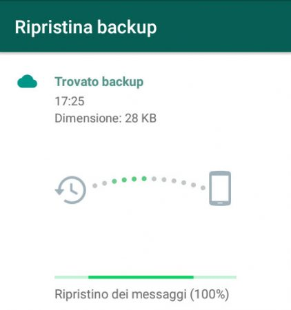 Come fare il backup di WhatsApp ripristino 4