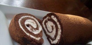 Come fare il rotolo di cioccolato e panna