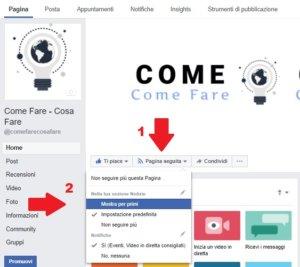 Come leggere tutti i messaggi che pubblica una pagina Facebook - mostra per primi