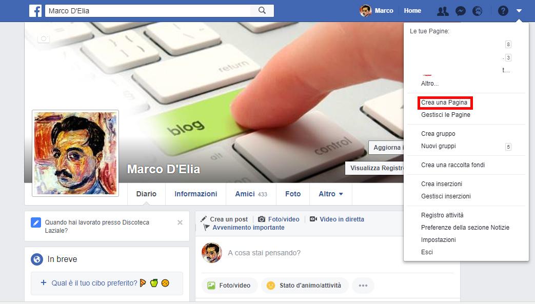 Come creare una pagina Facebook per la mia azienda