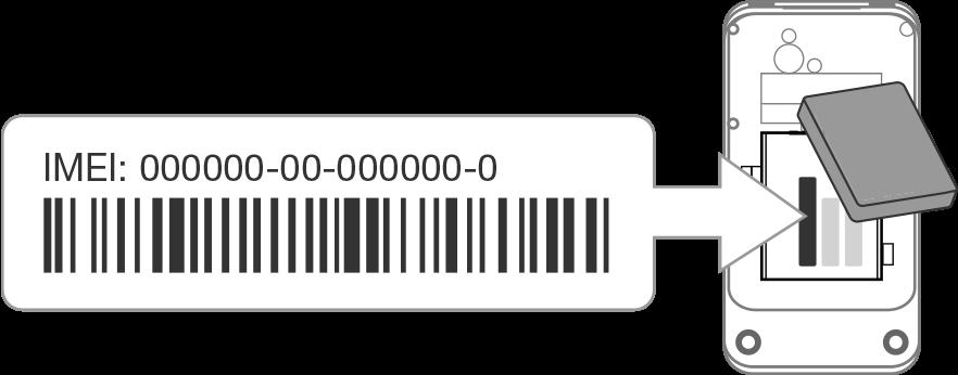Come controllare il codice imei - Sotto il vano Batteria
