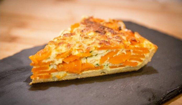 Torta salata di carote