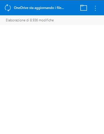 OneDrive Aggiornamento files